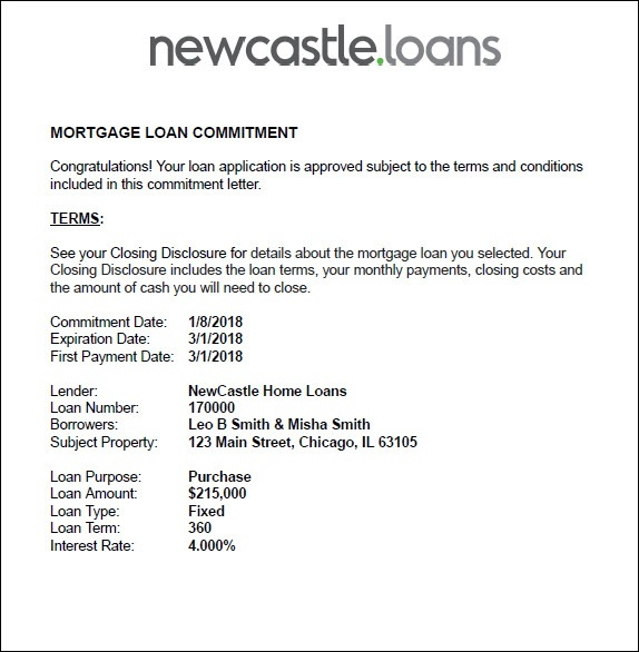 Mortgage Loan Commitment