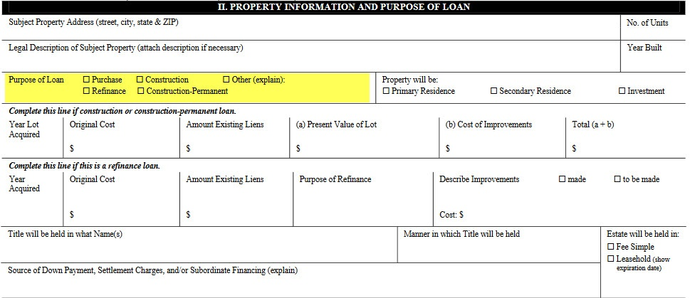 Purpose of Loan
