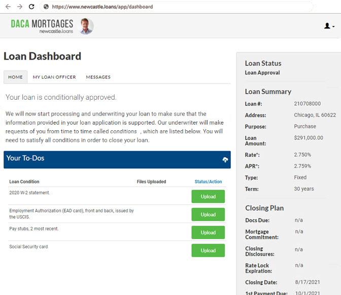DACA Mortgage Loan Dashboard