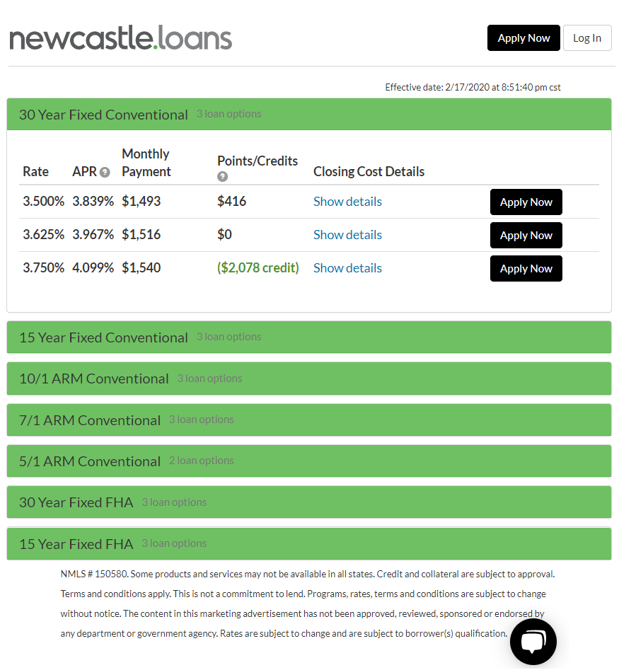 Mortgage calculator interest rates in real time NewCastle Home Loans