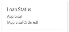 Loan Status Appraisal (Appraisal Ordered)