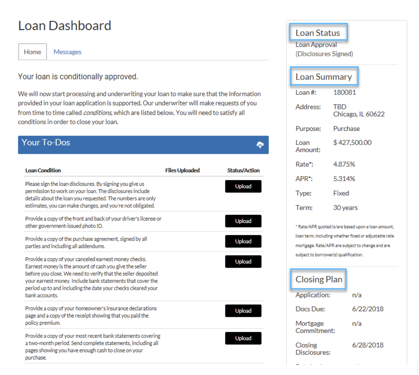 closing-plan-newcastle-loan-dashboard