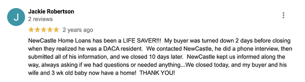 NewCastle Home Loans - Google Review